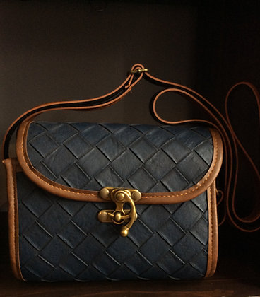 Beautiful blue purse with buckle