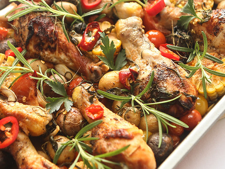 Baked Miso Chicken & Vegetables with Marukome Miso