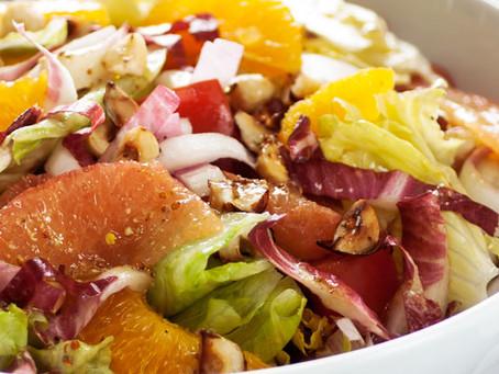 Citrus Hazelnut Salad with Kikkoman USA