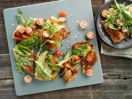Naan Salad Pizza by Kewpie USA