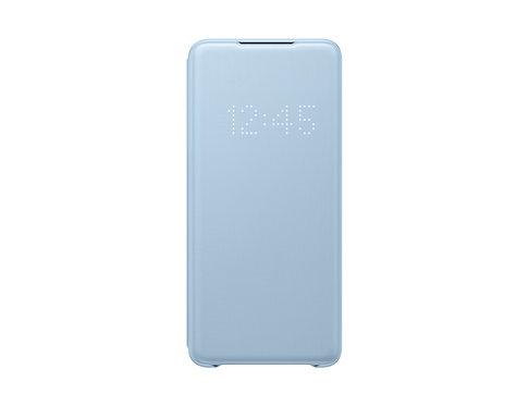 Galaxy S20 Plus için LED View Kılıf - Mavi