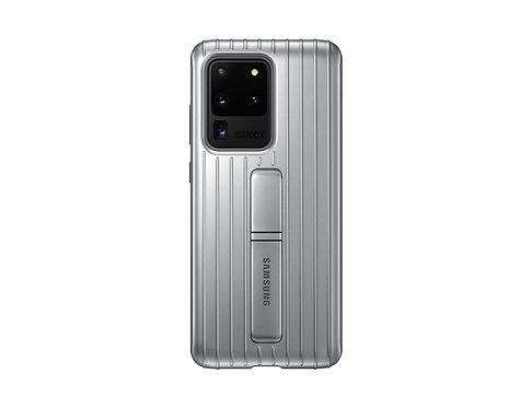 Galaxy S20 Ultra için Koruyucu Kılıf - Gümüş Gri