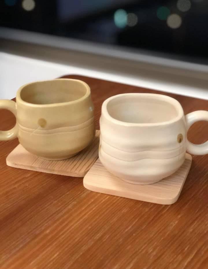 香杉原木杯墊