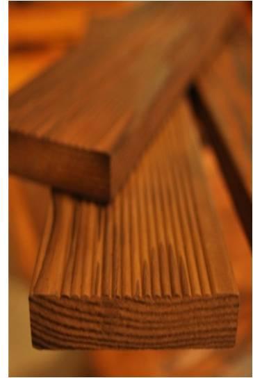 碳化熱木材