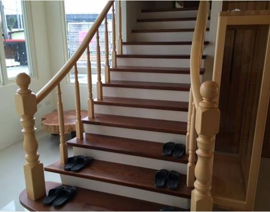 花旗松(碳化熱)樓梯板