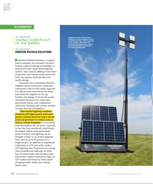 Alberta Oil Magazine-Top energy Innovators