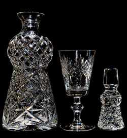 Decanter and glass