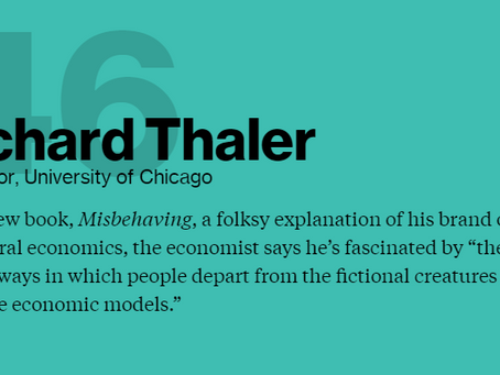 Bloomberg names Thaler one of the Markets Most Influential