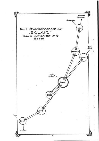 Balair Flugplan 1926