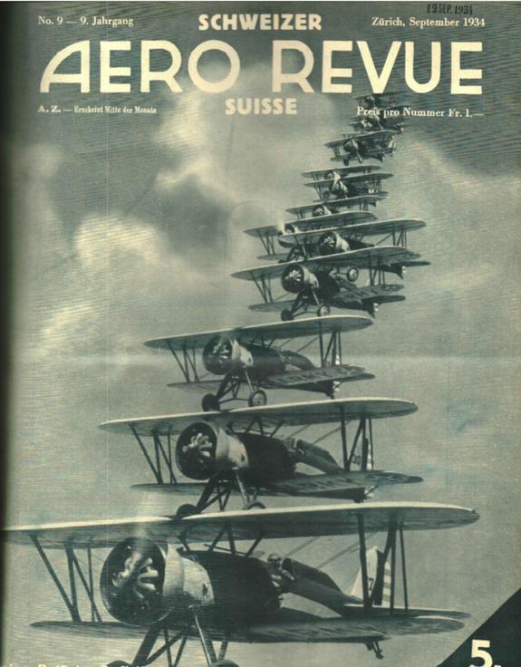 Titelblatt Aero Revue vom September 1934