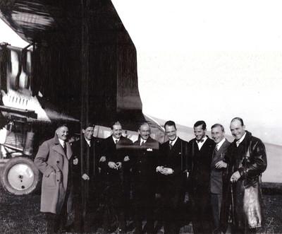 von links: E. Gerber, Franz Zimmermann, Ernst Nyffenegger, Hans Schär, Walter Ackermann, Otto Heitmanek, F. Künzli, Armin Mühlematter