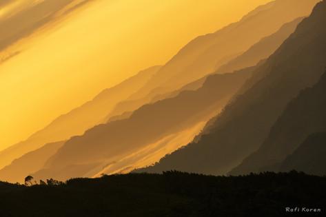 Abstract Diagonal Sunrise