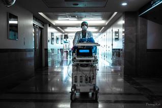 Covid 19 - medical center corridor