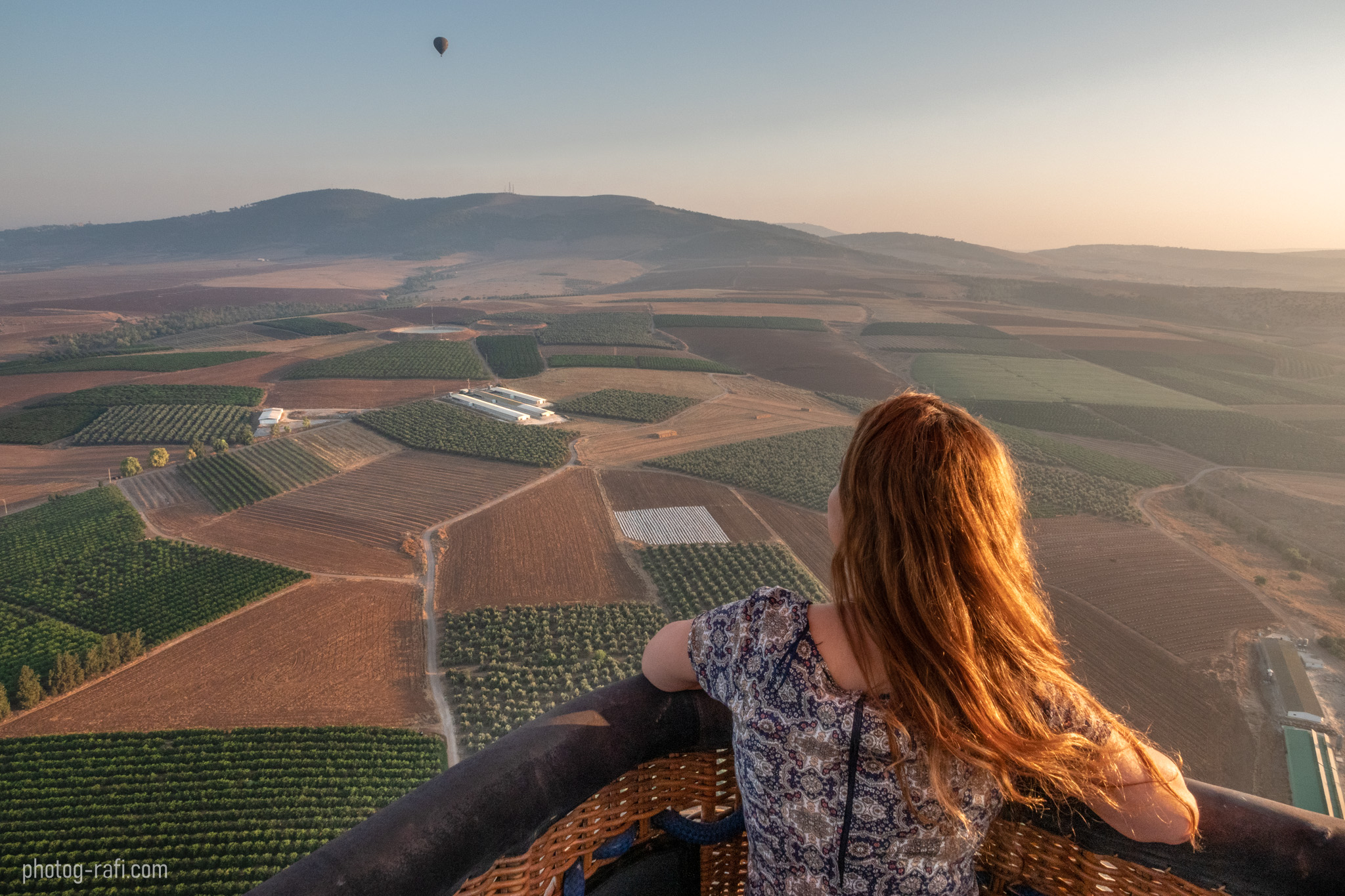 Hot air balloon in Izrael valley