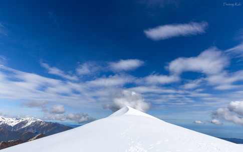 Summit and clouds