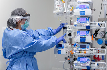 Covid 19 ICU unit - protected staff