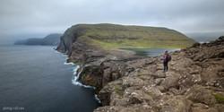 Facing the ocean, Faroe Islands