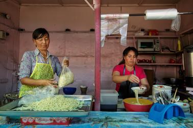 Market cooking, Kyrgyzstan