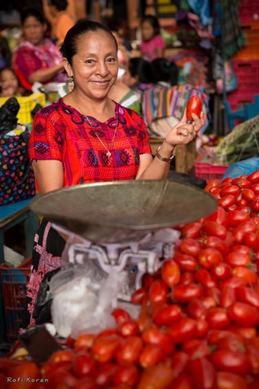 Tomato girl, Guatemala