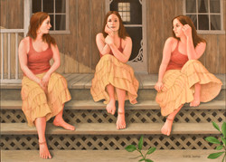 ON THE PORCH STEPS 30X40