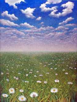 THE FIELD OF DAISIES 48X36 (sold)