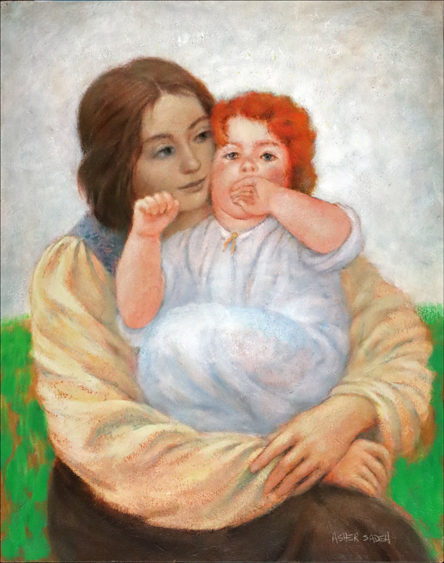 MOTHER AND CHILD 23X18