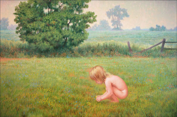 "CHILD IN FIELD 24""X36"" (sold)"
