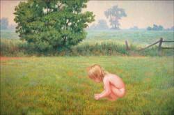 "CHILD IN FIELD 24""X36"" (sold)"
