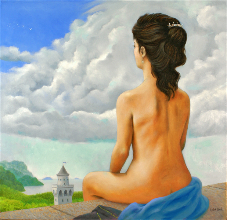NUDE AND CASTLE 36x36