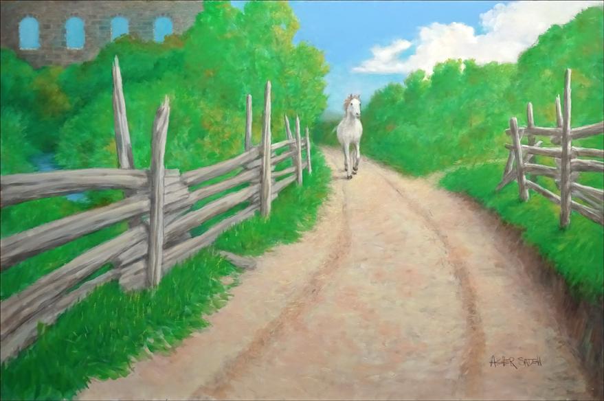 THE WHITE HORSE 24X36