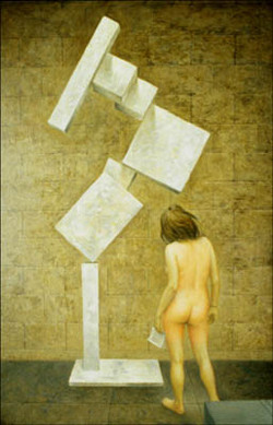 """NUDE AND SCULPTURE 36"""" X 24"""""""