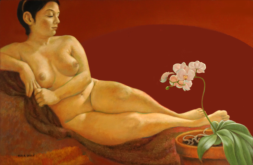 NUDE & ORCHID 24x36