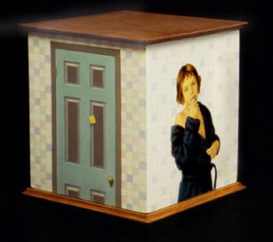 WOMAN, TOWEL, DOOR 12X12X12
