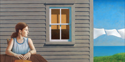HER HOUSE BY THE SEA 24X36 (sold)