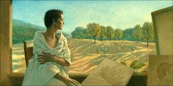 MODEL, VALLEY AND COWS 24X48 (sold)