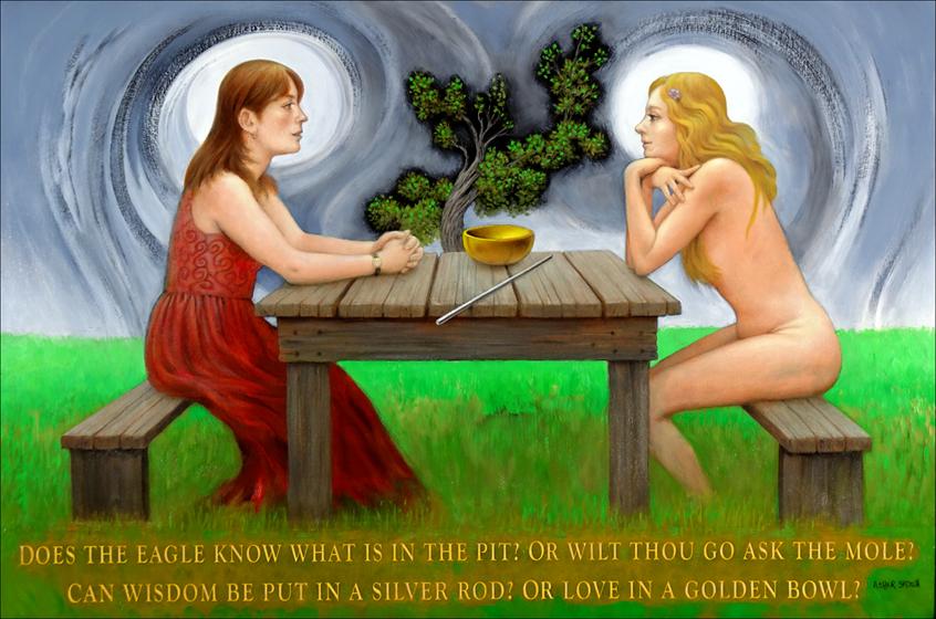 THE CONVERSATION (ROD & BOWL) 24X36