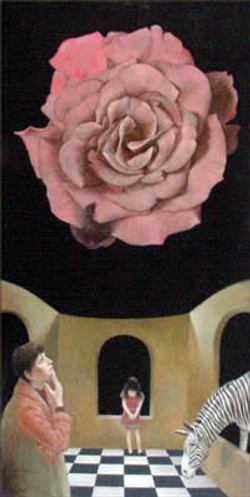 THE ETERNAL ROSE 48x24 (sold)