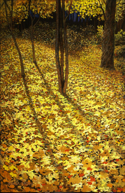 AUTUMN LEAVES 36 X 24 (sold)