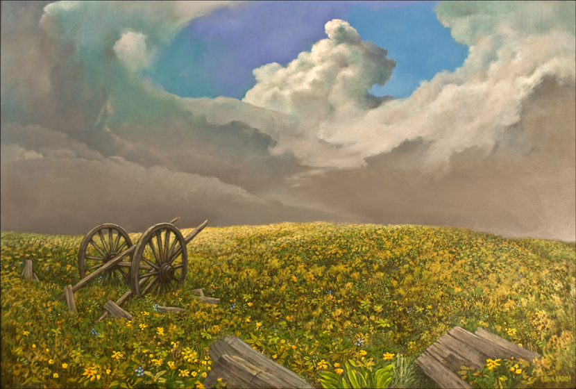 THE OLD WAGON 40 X 60 (sold)