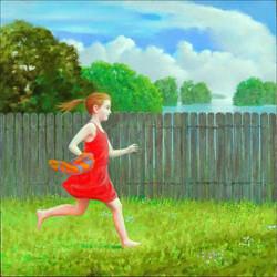 RUNNING GIRL 24X24