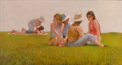 WOMAN IN THE PARK 24X48