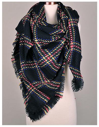 oversized scarf . plaid
