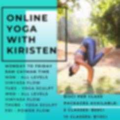 yoga with kiristen