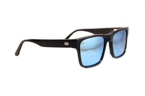 Timber Line - DB Series - Black - Blue Mirror Lens