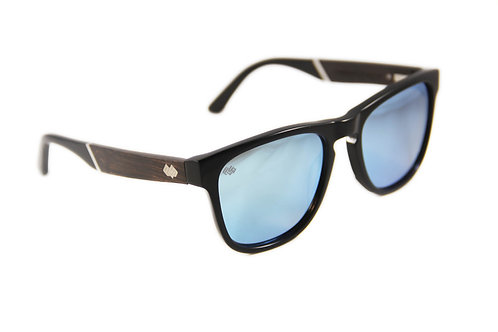 Timber Line - Cayman - Black - Blue Mirror Lens