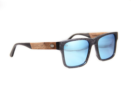 Timber Line - DB Series - Graphite - Blue Mirror Lens