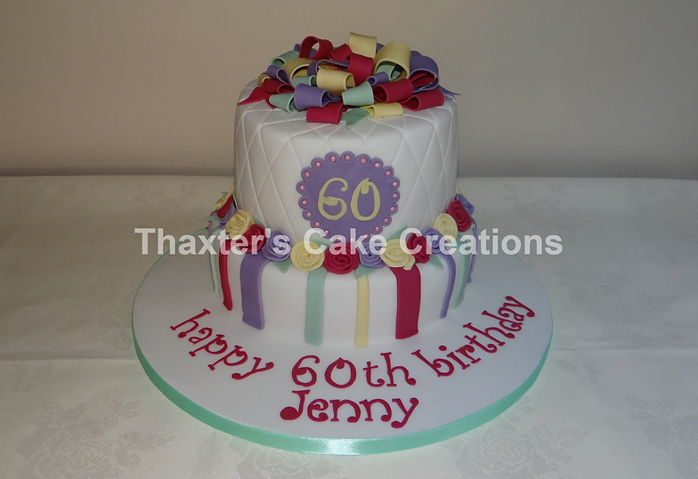 2 Tier 60th Cake