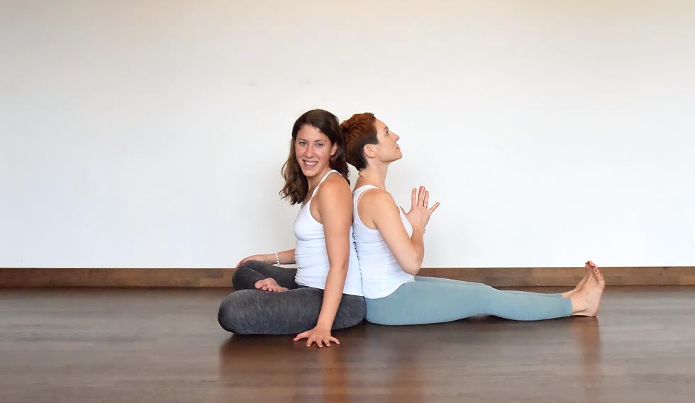 Alessandra Sossini & Tanja Forcellini in Yoga Position