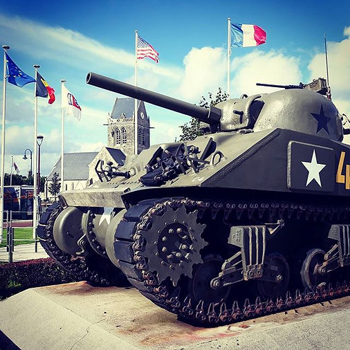 Sherman tank at the Airborne Museum, Sai