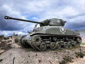 Sherman tank at Utah beach. I'd say the